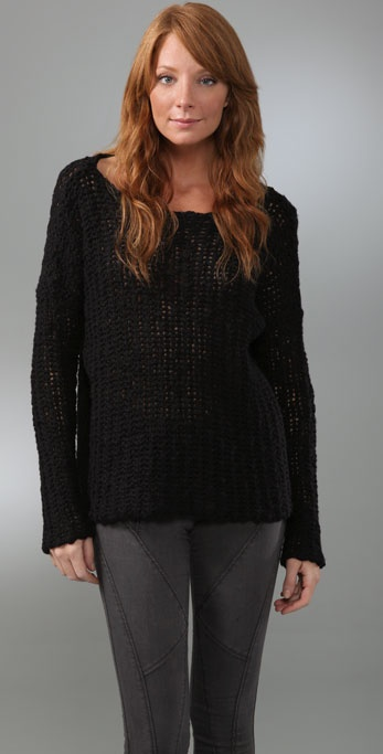 James Perse Open Stitch Boxy Sweater