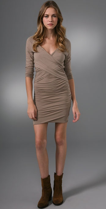 James Perse Crisscross Draped Dress