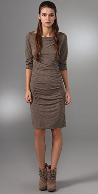 James Perse Boat Neck Mini Dress