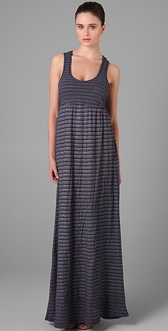 James Perse Striped Long Tank Dress