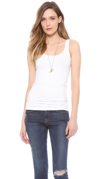 James Perse Brushed Jersey Long Tank