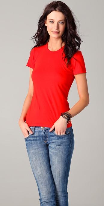 James Perse Short Sleeve Crew Neck Tee
