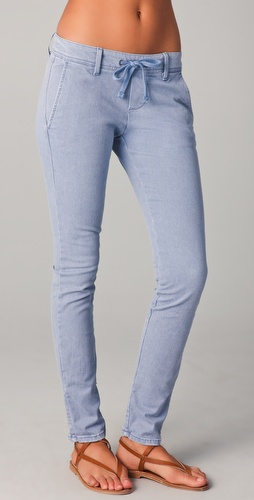 James Perse Slim Leg Drawstring Jeans