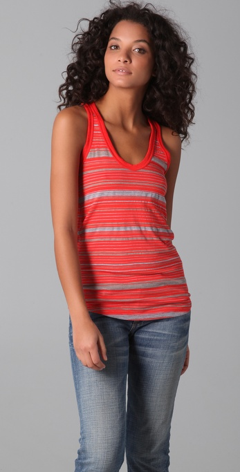 James Perse Vintage Stripe Racer Back Tank