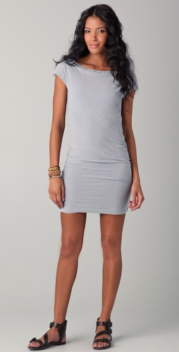 James Perse Boat Neck Cap Sleeve Dress