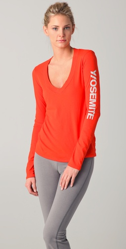James Perse Yosemite Long Sleeve V Tee