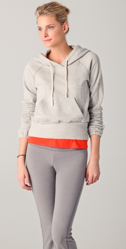 James Perse Yosemite Just Breathe Cropped Hoodie