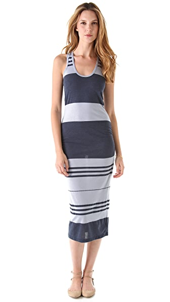 James Perse Wide Stripe Tank Dress