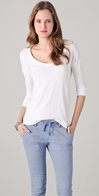 James Perse Scoop Neck Top