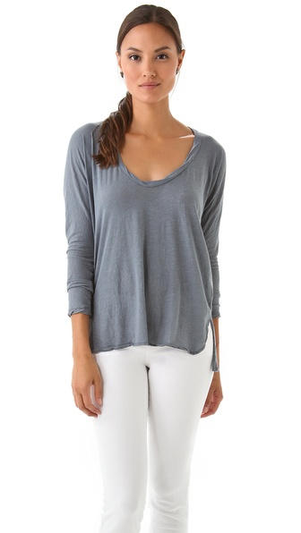 James Perse Dolman Soft V Knit Top