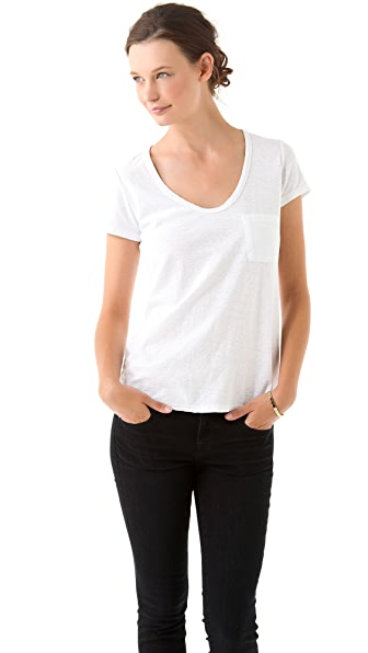 James Perse Vintage Slub Pocket Tee
