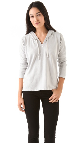 James Perse Dolman V Neck Hoodie
