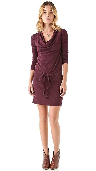 James Perse Long Sleeve Cowl Dress