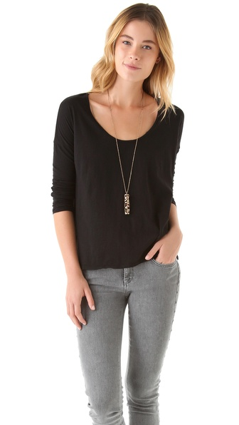 James Perse Boxy Long Sleeve Tee