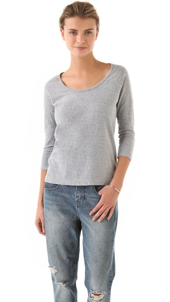 James Perse Heathered Raglan Tee