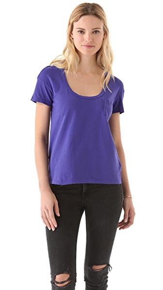 James Perse Relaxed Pocket Tee in Sanded Jersey
