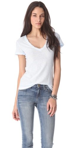 Shop James Perse Reverse Binding Tee and James Perse online - Apparel,Womens,Tops,Tee, online Store