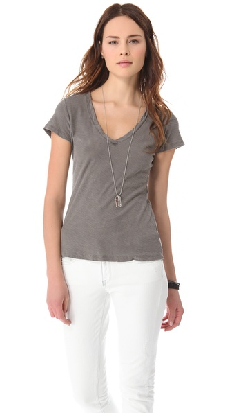James Perse Reverse Binding Tee