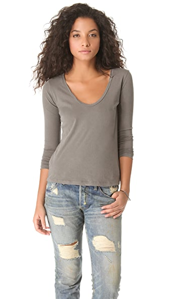 James Perse Long Sleeve Casual Tee