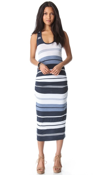 James Perse Pacific Stripe Racer Dress