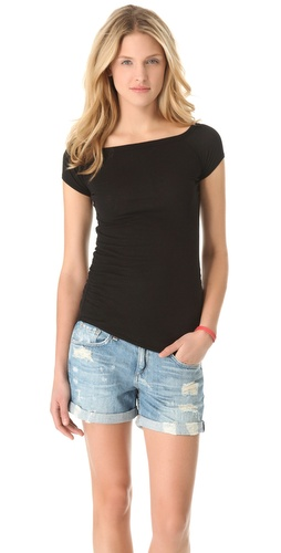 James Perse Bare Shoulder Tee