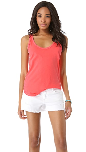 James Perse Skinny Strap Baseball Tank