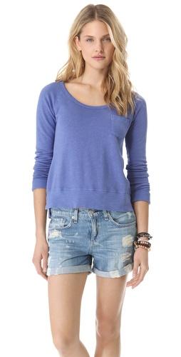 James Perse Raglan Pocket Pullover