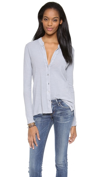 James Perse Button Up Tee