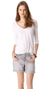 James Perse Relaxed Fit V Neck Tee