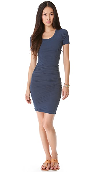 James Perse Ruched Raglan Dress