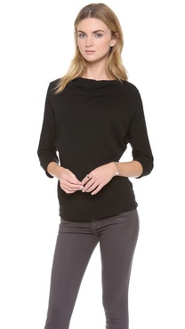 James Perse Vintage Cotton Dolman Pullover