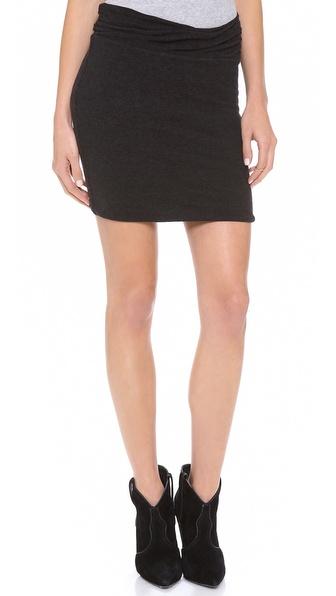 James Perse Wrap Waist Miniskirt