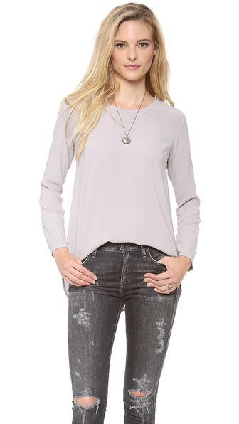 James Perse Button Shoulder Top