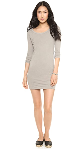 James Perse Inside Out Jersey Dress