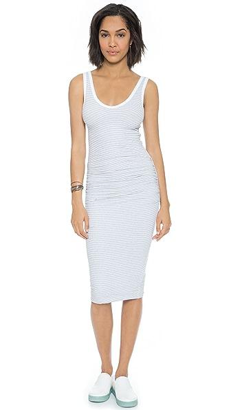 James Perse Skinny Stripe Tank Dress