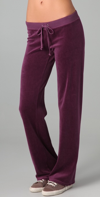 Juicy Couture Velour Original Leg Pants