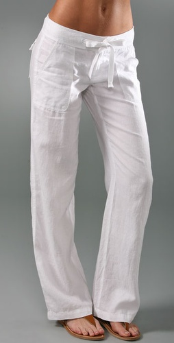 Juicy Couture Linen Drawstring Pants