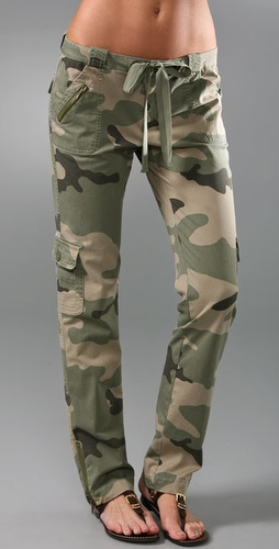 Juicy Couture Camo Slim Cargo Pants