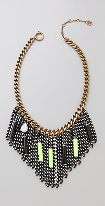 Juicy Couture Neon Bars & Chain Necklace
