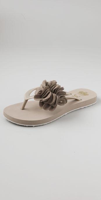Juicy Couture Petal Flower Flip Flops