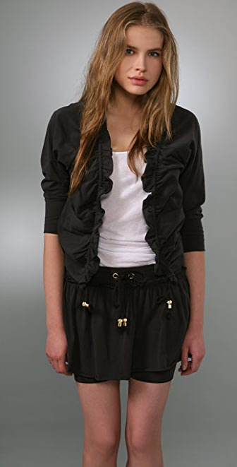Juicy Couture Cropped Ruffle Cardigan