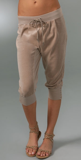 Juicy Couture Micro Velour Slouchy Knee Pants