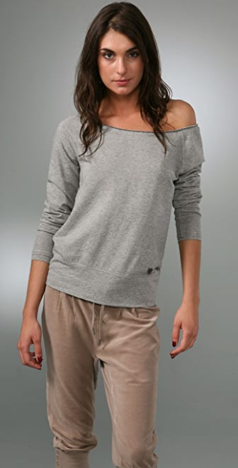 Juicy Couture French Terry Long Sleeve Pullover