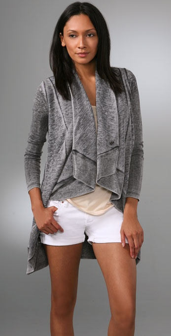 Juicy Couture Burnout Fleece Poncho Cardigan