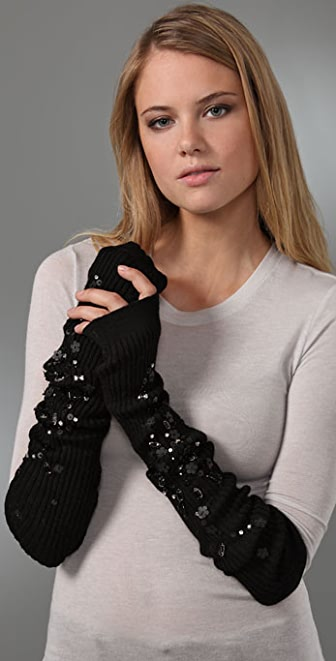 Juicy Couture Ribbed Arm Warmers / Leg Warmers