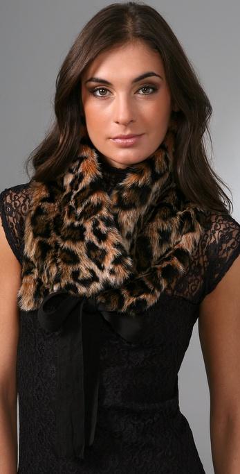 Juicy Couture Leopard Faux Fur Stole