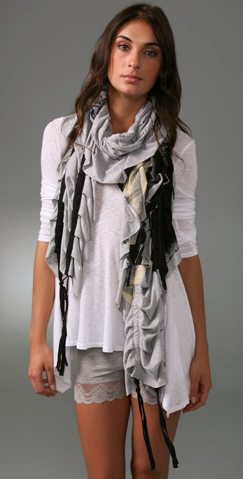 Juicy Couture Feather Graphic Scarf