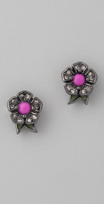 Juicy Couture Fall Floral Stud Earrings