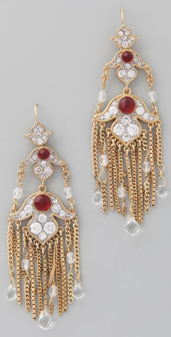 Juicy Couture Ornate Chandelier Earrings