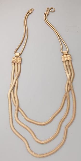 Juicy Couture Double Snake Chain Long Necklace